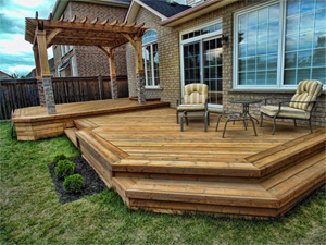 deck with Arbor no rails