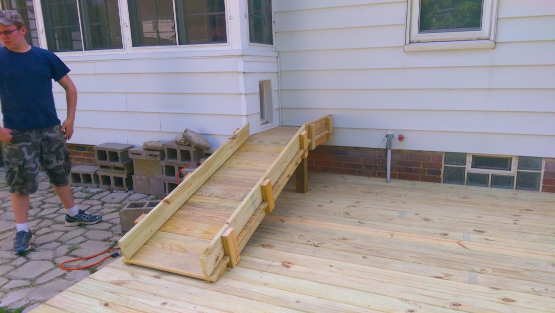 Pet ramp on to deck patio