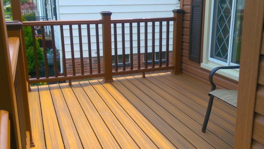 Composite deck and custom rail