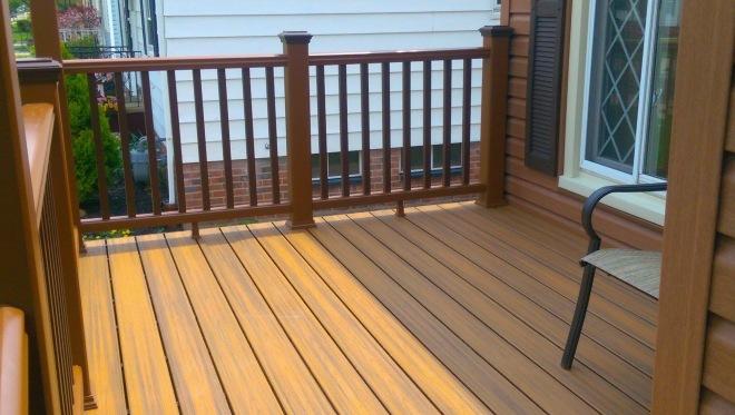 Composite deck and custom rail